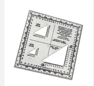 SUPER GTA TOPOGRAPHIC Map Scale Protractor Improved Military UTM - Mgrs maps for sale