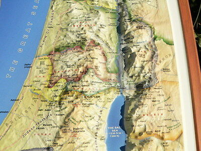 3d Topography Bible Map 16 Biblical Study 12 Tribes Of Israel Old