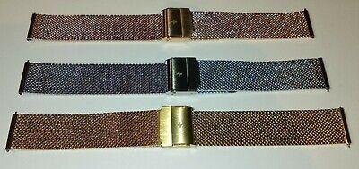 Bracelet de Montre Maille Milanaise 18 mm Couleur Argent - Marque AIGHT - Mesh 8