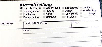 Kurzmitteilungsd Din Lang Block Kurznachricht 2x50 Bl