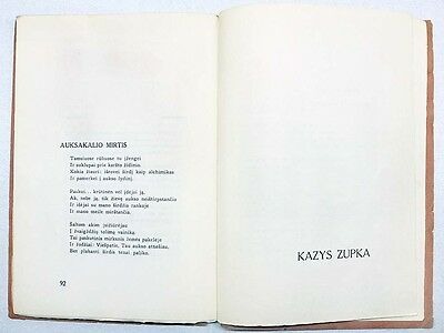 "AVANT-GARDE Cover POETRY Collection ""SEPTYNI"" K. ZUPKA Autograph LITHUANIA 1930 8"