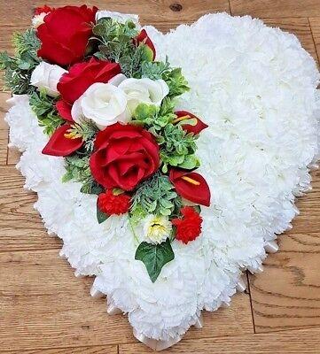 Silk Artificial Funeral Flowers Wreath/Memorial/Grave Tribute Wreaths 10