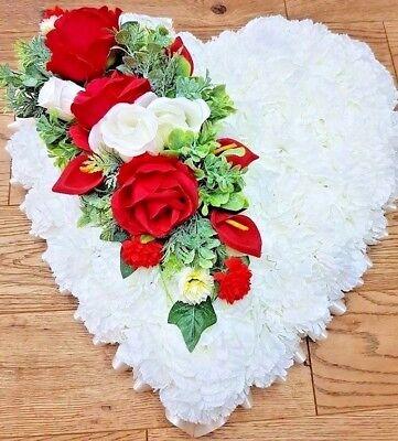 Pillow Shape Silk Artificial Funeral Flowers Wreath/Memorial/Grave/Tribute 20x12 6