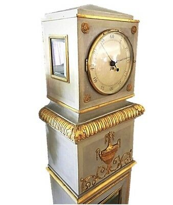 Continental Painted Neoclassical Style Regulator Grandfather Longcase Clock 8