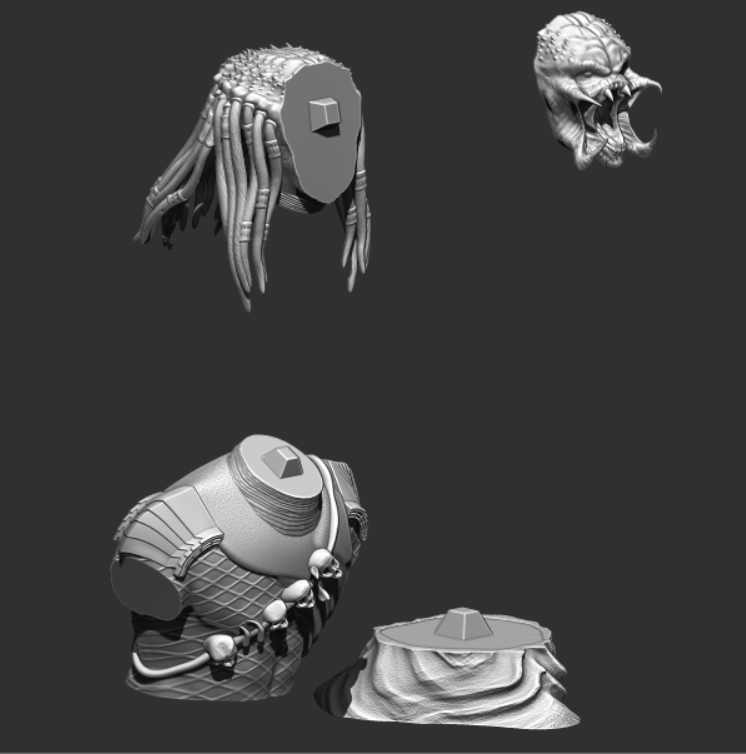 Predator Bust - File Stl 3D printing created ZBrush Compatible with every Slicer 7