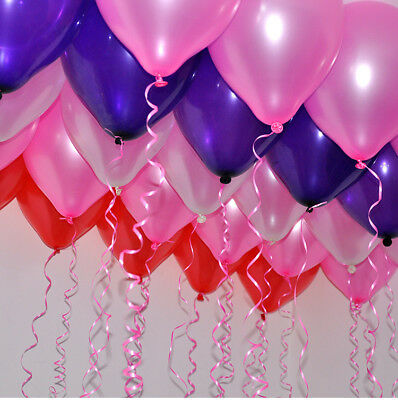 100Pcs Colorful Pearl Latex Balloon Celebration Party Wedding Birthday 10 inch 10