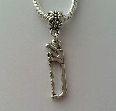 Ruler Tool Contractor Handyman School Supply Dangle Charm for European Bracelets