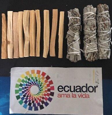 10 Palo Santo Wood & 3 White Sage Smudge Sticks: Cleansing Negativity Removal 6