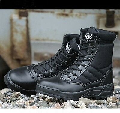 e396cc1dec9 5 of 9 Outdoor Ankle Boots Men s High top Tactical Military Safety Desert  Hiking Boots