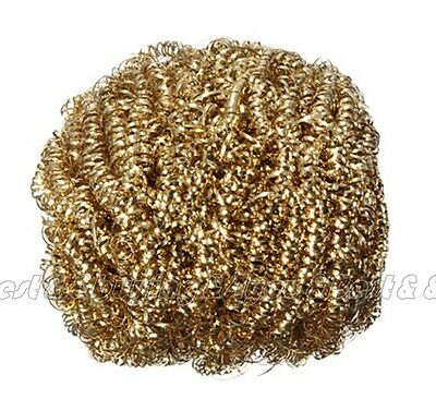 Soldering Solder Iron Tip Cleaner Brass Cleaning Wire Sponge Ball 2