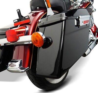 Telaietti per borse rigide laterali per Harley Softail Deluxe 05-17 cromo