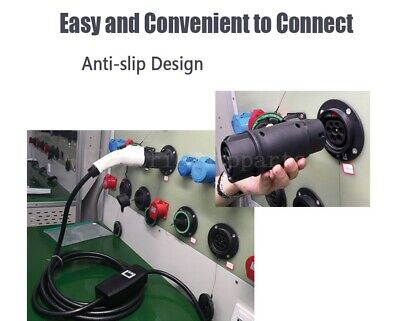 Electric Car Charger Adapter SAE J1772 32A 240V Connector Socket Charging Plug 4