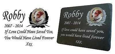 Pet Photo Memorial Slate Plaque  Personalised for your loved pet including photo 2