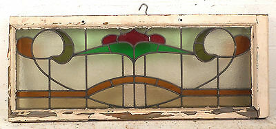 Vintage Stained Glass Window Panel (3222)NJ 2