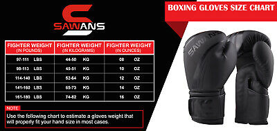 SAWANS® Leather Boxing Gloves Professional MMA Sparring Punch Bag Training Fight 2
