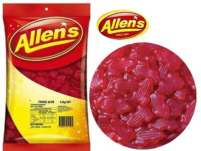 ALLENS FROGS ALIVE RED 1.3 kg LOLLIES BULK PARTY FAVOR SWEETS CANDY BUFFET LOLLY 2