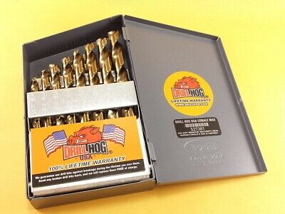Drill Hog® 21 Pc COBALT M42 HSSCO Drill Bit Set Drill Index Lifetime Warranty 4