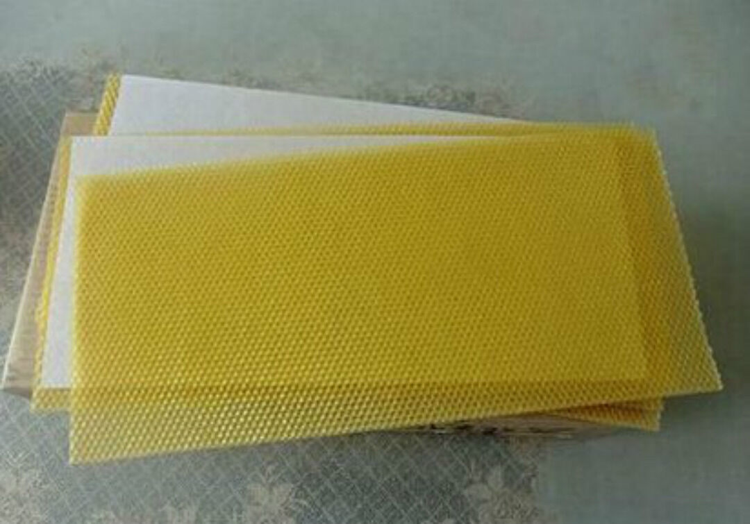 30 Sheets of Beeswax foundation-Perfect for Candle rolling-100% natural Beeswax