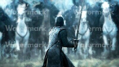 Jon Snow Poster, Game of Thrones, Battle of the Bastards, Print, Wall Decor 2