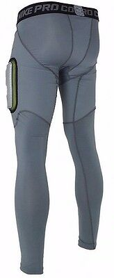 21db94d932 ... NIKE Pro Combat Hyperstrong De-Tech Hard Plate Football Tights Pants -  Gray 3XL 2