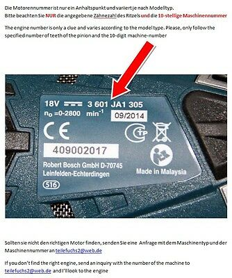 1607022529 Motor Bosch PSR 14,4 VE-2 PSR 14,4  2607022851