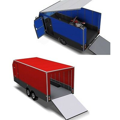 Trailer Plans - 6m ENCLOSED & 4m ENCLOSED MOTORBIKE TRAILER PLANS - on CD-ROM 12