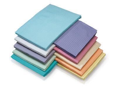 Medicom Dental Bibs - 2 Ply Tissue/ 1 Ply Poly - Various Colors - 500/case 3