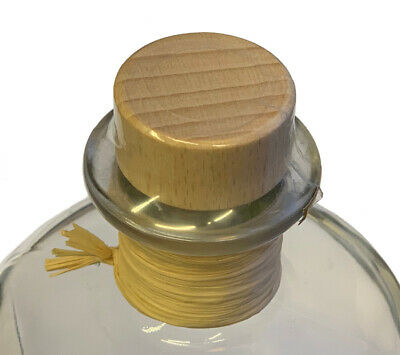 5x Profi Set Apothekerflaschen Glas leer 1L & Korken Bast Kapsel transparent 4