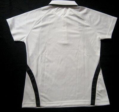 OLIVER Damen Poloshirt LADY POLO / Gr. S / Weiß-Anthrazit / NEU