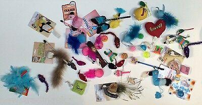 20 X  Bulk Buy Cat Kitten Toys Rod Fur Mice Bells Balls  Catnip BARGAIN JOB LOT 6
