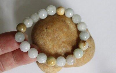 Gemstone 100% Natural Grade A JADE Jadeite Untreated Multi-Color Beads Bracelet 6