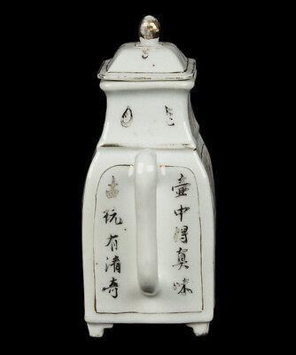 China 19. Siglo Tongzhi Tetera -a Chino Famille Rosa Tetera - Chinois Cinese 9