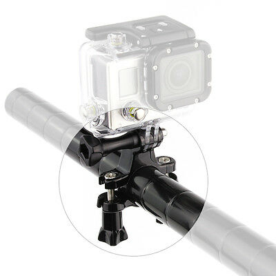 Black Motorcycle Bike Handlebar Seatpost Pole Mount Stand For GoPro HERO 7 6 5 4 8