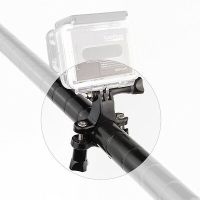 Black Motorcycle Bike Handlebar Seatpost Pole Mount Stand For GoPro HERO 7 6 5 4 7