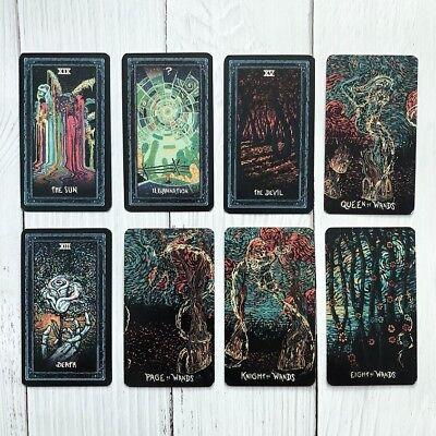 Deck 78 Tarot Cards English DIY Silver Plating Prisma Visions tarot Board Game 4