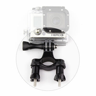 Black Motorcycle Bike Handlebar Seatpost Pole Mount Stand For GoPro HERO 7 6 5 4 6