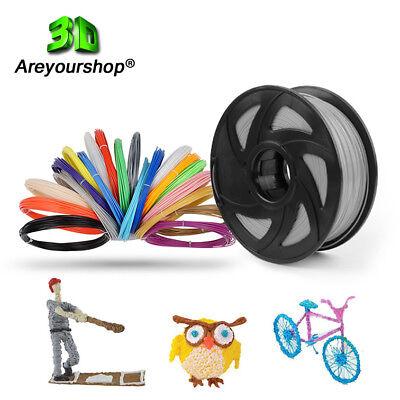 1/2/3 Pack 3D Printer Filament 1.75mm 1Kg PLA Multi Color For MakerBot RepRap U9 12