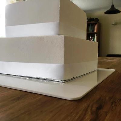 eckig Kuchen Brett,Dunkelbraun matte Oberfläche 3mm Acryl,17.8cm 22.9cm 27.9cm