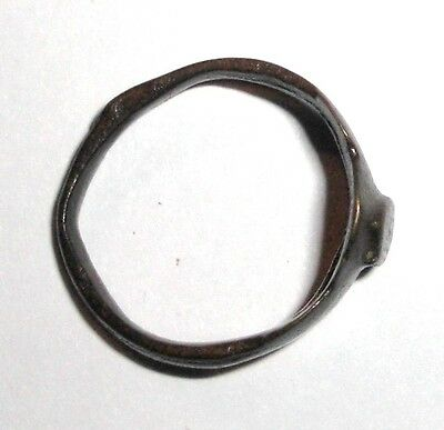 Medieval Bronze Ring. Jewelry Artifact