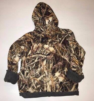 ZooFleece Shadow Grass Camouflage Kids Waterfowl Reversible Jacket Hoodie Coat 2