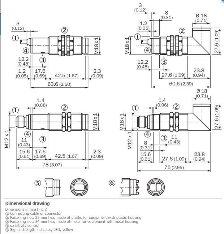 H● SICK  VTE18-4P42440 Photoelectric proximity sensor  ,PNP,New. 3