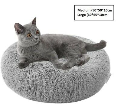 Pet Basket, Bed with Fleece Soft Comfy Fabric Washable Dog Cat Cosy Dogs Cats 5
