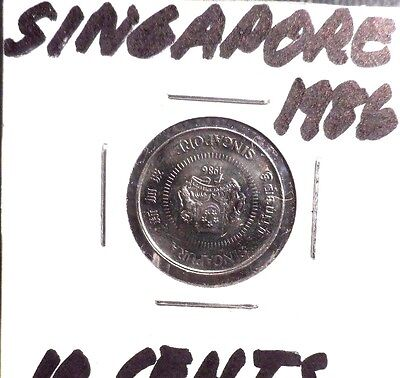 Circulated 1986 10 Cents Singapore Coin (72116) 3