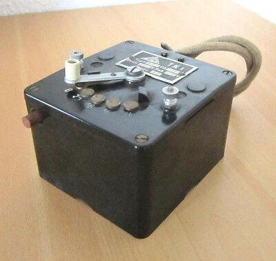 Vintage GFN FLEISCHMANN 536 Trafo Transformator Bakelit-Gehäuse Transformer gut