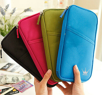 Travel Wallet Ticket Holder with RFID Blocking Covers for Passport Credit Cards 4