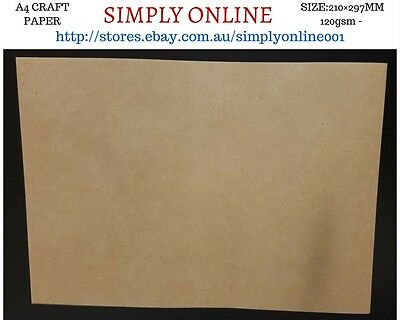 10 Sheet A4 Kraft Paper - 120 Gsm - Printer Compatible Craft work - 210 × 297 mm