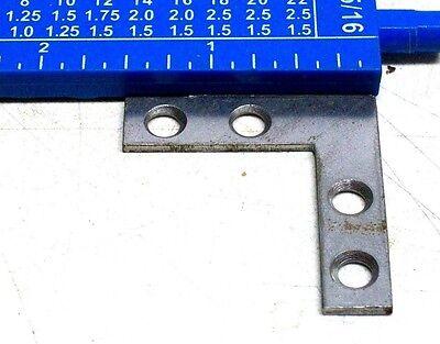 "Lot Of 6 Nos Vintage 1 1/2"" X 1 1/2"" X 3/8"" Wrought Flat Corner Irons Dm 6"