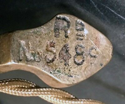 Pair Antique Eng Brass c1884 Arts Crafts Dbl Candelabra Lamp W&AC Russell Tripod 4