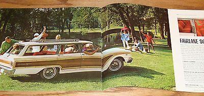ORIGINAL 1963 FORD Fairlane 500 & Wagon Sales Brochure 63