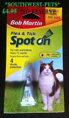 4 Packs 1St Post*bob Martin Cat Flea & Tick Drops Spot On Treatment-4 Packs 2